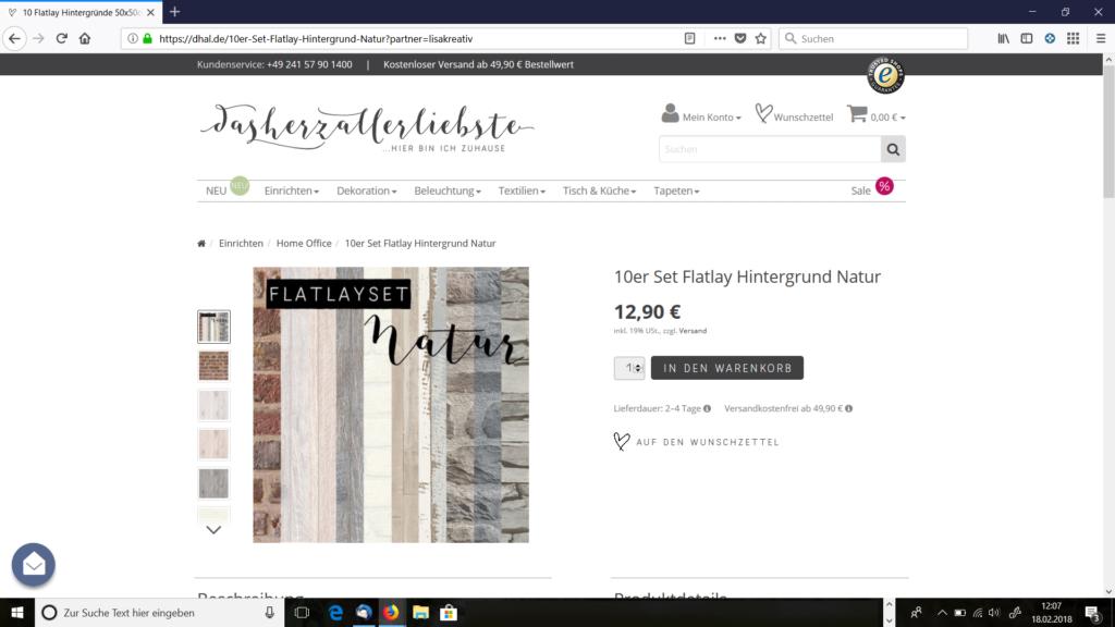 dasherzallerliebste - Flatlay Tapeten Muster-Set