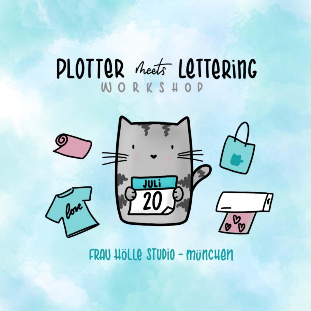 Plotter-Workshop in München im Frau Hölle Studio - Plotter meets Lettering - Handlettering Workshop in München